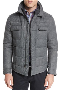 Peter Millar - Kent Quilted Flannel Jacket