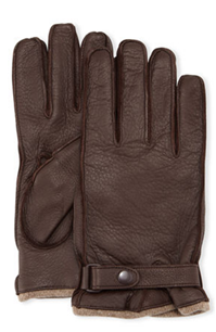 Portolano - Cashmere-Lined Leather Gloves with Snap