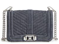 Rebecca Minkoff - Small Love Denim Crossbody Bag