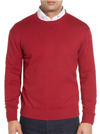 Robert Talbott - Jersey Sport Cotton Blend Crewneck Sweater