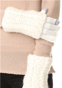 Rebecca Minkoff - Hand Knit Cable Texting Muffler Gloves
