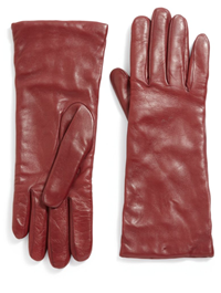 Saks Fifth Avenue - Cashmere-Lined Leather Gloves