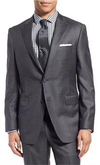 Samuelsohn - Classic Fit Solid Wool Suit