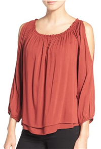 Sanctuary - Chantel Slit Sleeve Off the Shoulder Tiered Top