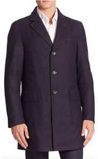 Sanyo - Wool Cashmere Blend Water-Repellant Jacket