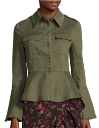 Scripted - Military Peplum Jacket