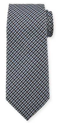 TOM FORD - Iridescent Houndstooth-Print Silk Tie