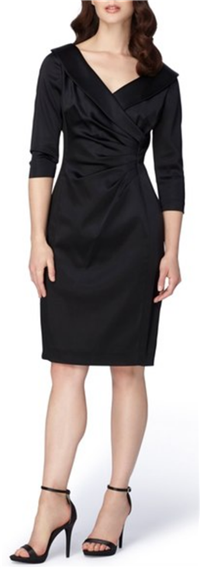 Tahari - Portrait Collar Satin Sheath Dress