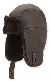 UGG®  - Corbett Leather Trapper Hat