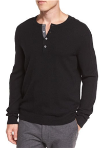 Vince - Cashmere Long-Sleeve Henley Sweater