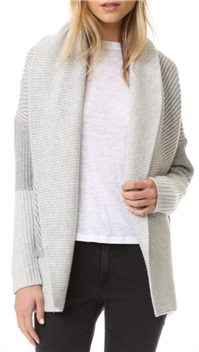 Vince - Colorblock Ribbed Cardigan