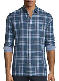 Vince - Double-Plaid Long-Sleeve Sport Shirt