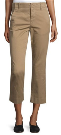 Vince - Flat-Front Cropped Chino Pants