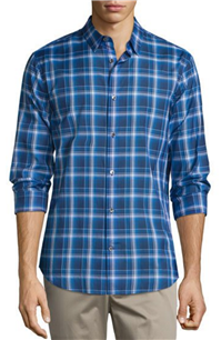 Vince - Manhattan Plaid Long-Sleeve Sport Shirt
