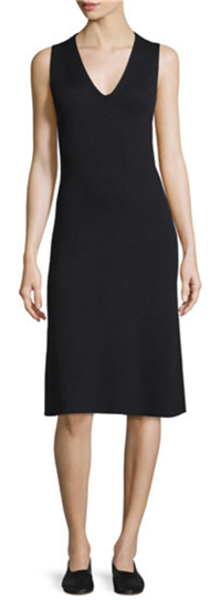 Vince - Sleeveless Fit-And-Flare Ribbed Dress