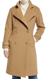 Vince - Wool-Blend Double-Breasted Trenchcoat