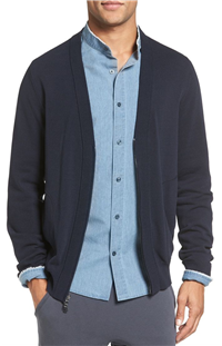 Vince - Zip Front Cotton Cardigan