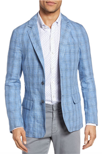 Zachary Prell - Laxus Plaid Linen Sport Coat