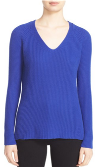 Autumn Cashmere - Shaker Stitch Cashmere V-Neck Sweater