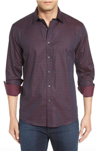 Bugatchi - Shaped Fit Check Sport Shirt