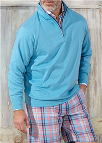 Peter Millar - Heather Interlock Quarter-Zip Sweater