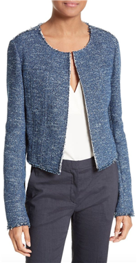 Theory - Ualana Indigo Tweed Jacket