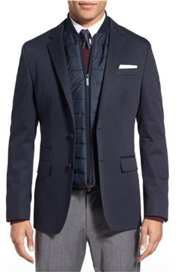 BOSS Hugo Boss - Hadwart Trim Fit Cotton Blend Blazer