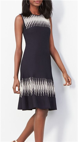 Nic+Zoe - Breaking Waves Twirl Knit Dress