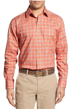 Thaddeus - Park Trim Fit Plaid Sport Shirt