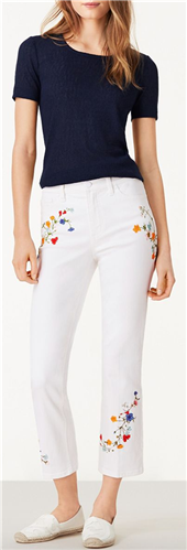 Tory Burch - Carson Cropped Flare Jean
