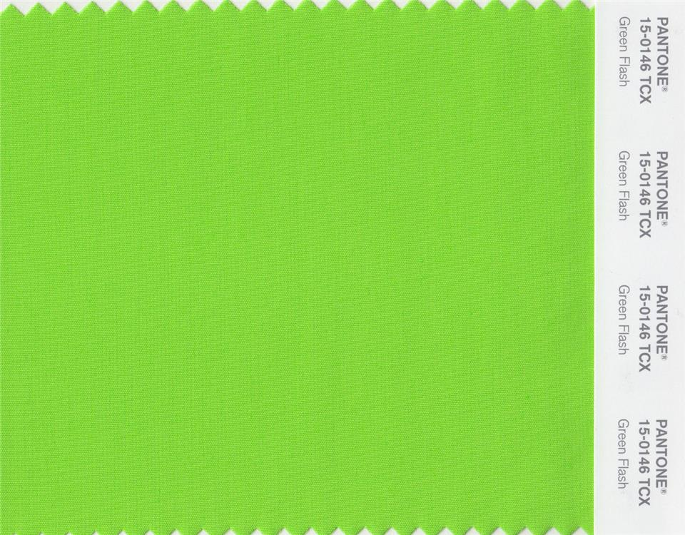 SP16 Pantone Greenflash 15-0146